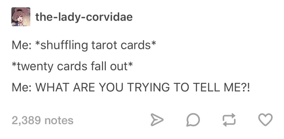 19 Funny Tweets And Tumblr Posts About Tarot
