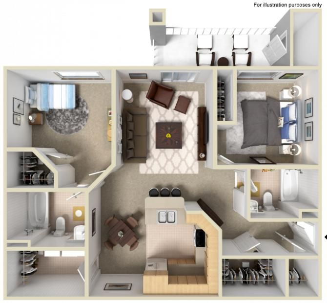 2 Bedrooms 2 Bathrooms 1 200 1 210 Sq Ft Apartments For Rent Apartment Communities Apartment
