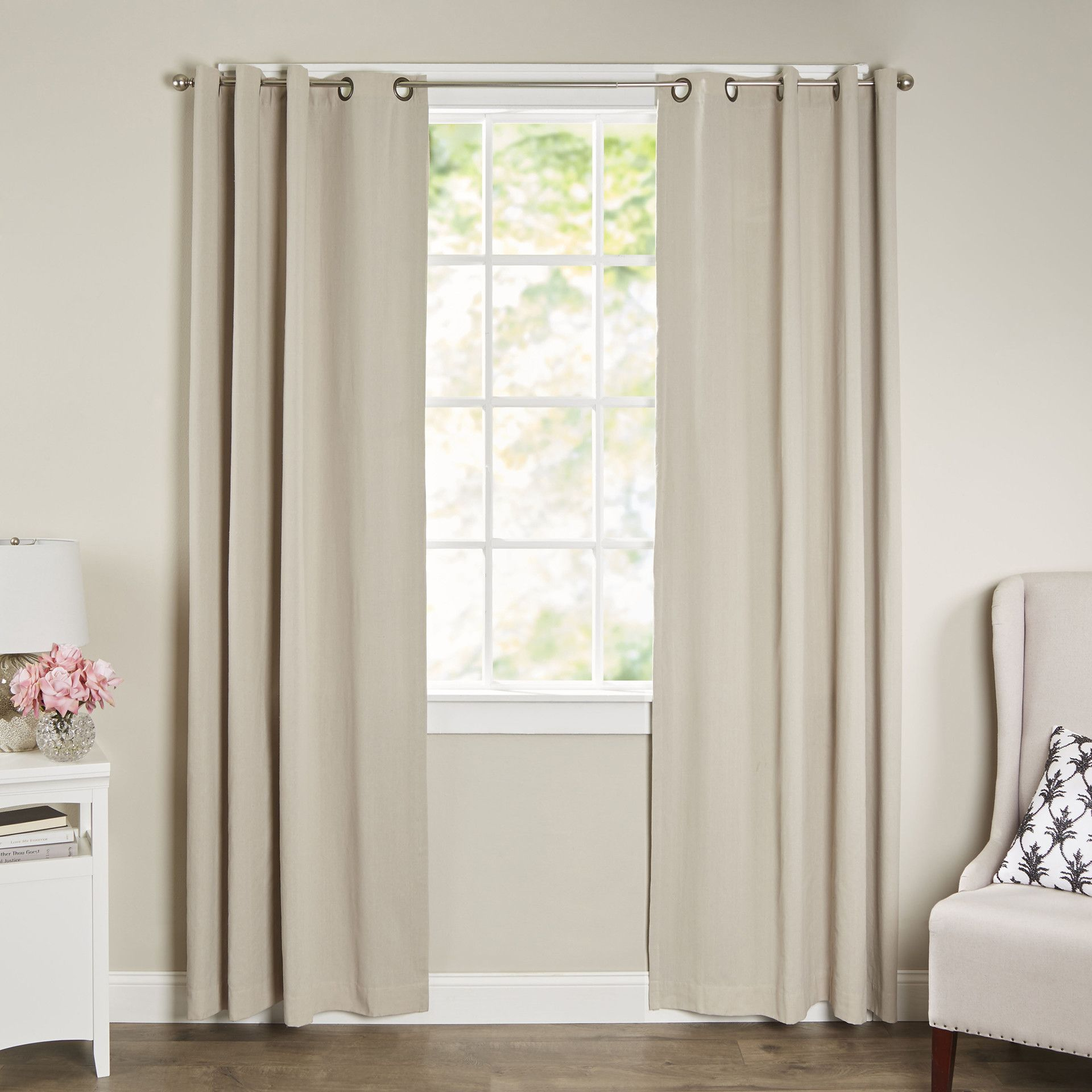 Window coverings types  remmy grommet single curtain panel  products  pinterest  products