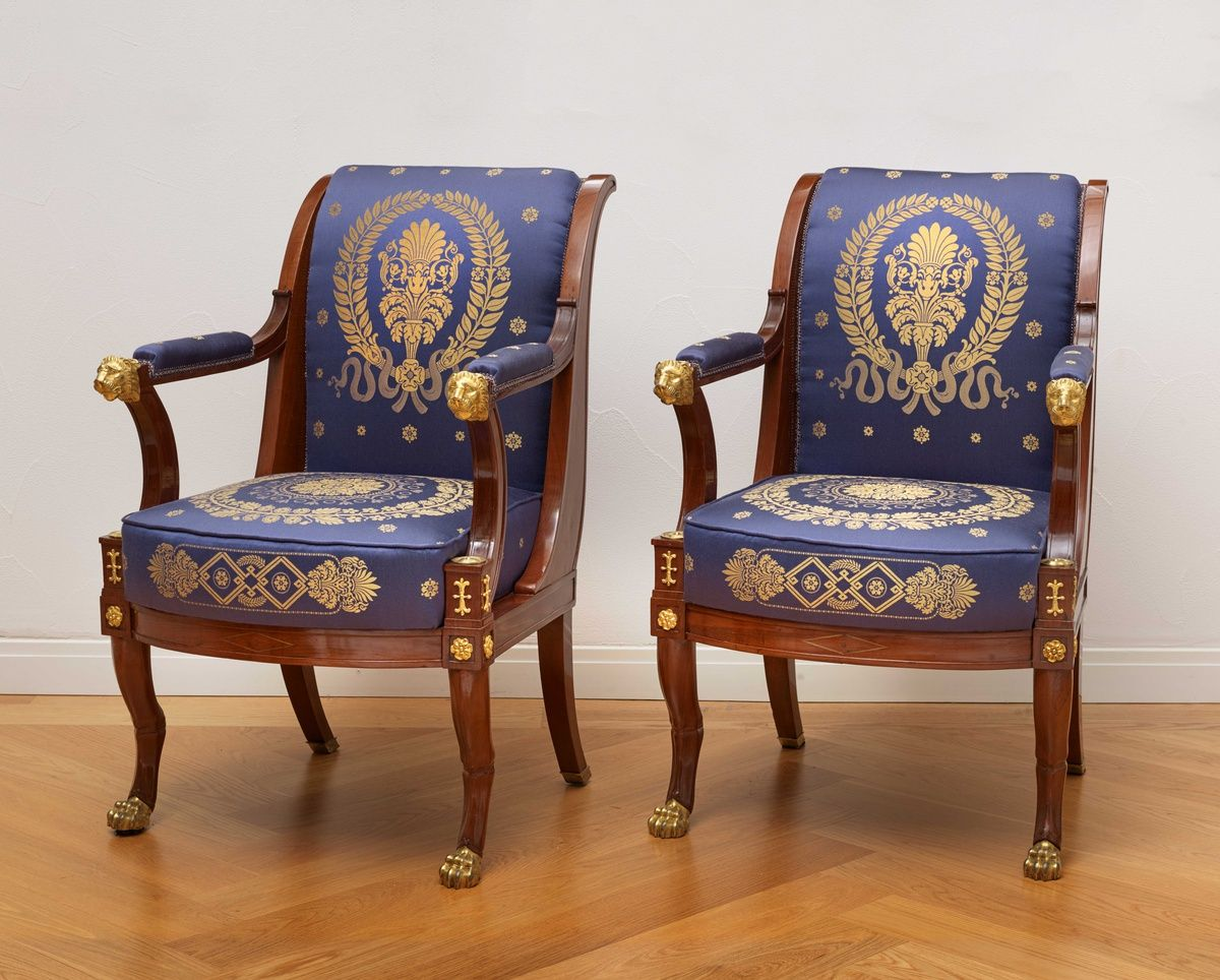 Fauteuils Empire Anciens An Empire Suite Of Furniture Comprising A Pair Of