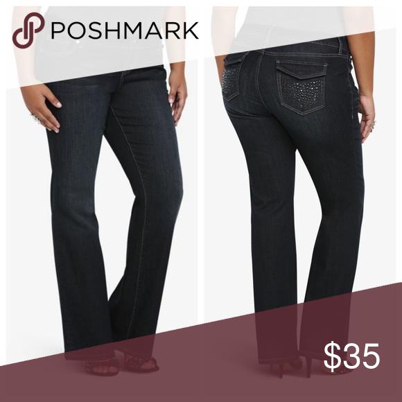 f39015eae03 Torrid Relaxed Boot Cut Embellished Studs Jeans 22 Torrid Women s plus size  bootcut denim jeans belt