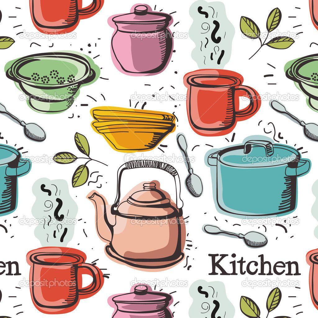 Utensilios de cocina dibujos buscar con google dulces for Dibujos de cocina
