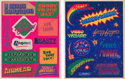 80's sticker design - Google-haku
