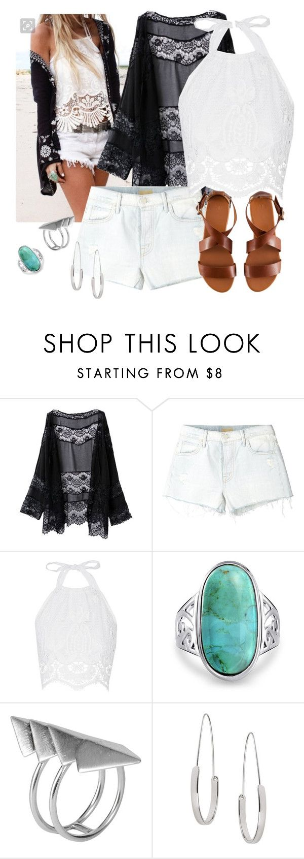 """""""Sem título #483"""" by dolcevita12 ❤ liked on Polyvore featuring Mother, Miguelina, Bling Jewelry, First People First, Topshop and H&M"""
