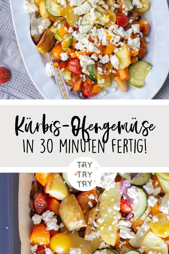 Kürbis-Ofengemüsen mit Feta #herbstgerichte