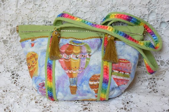 Medium  Balloon Handbag Purse Tote Green. by HandbagsByDyana, $59.99