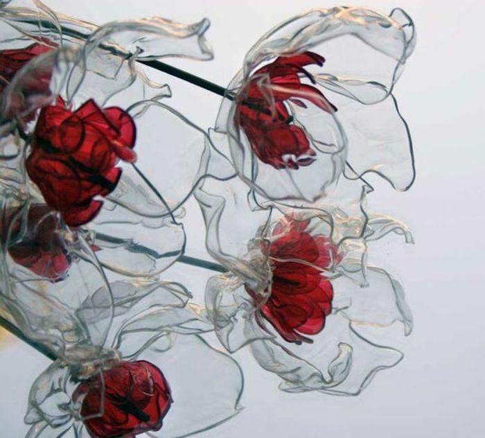Fleurs En Plastique De Bouteille ▷ 1001+ idées pour un bricolage avec des bouteilles en plastique