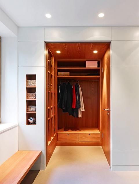 Eingangsbereich mit Windfang, Entree und Garderobe interior - amerikanische küche einrichtung