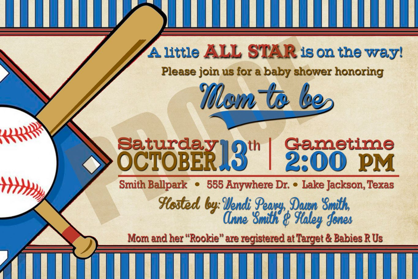 graphic regarding Free Printable Baseball Baby Shower Invitations known as Least complicated 2018! Clean Of No cost Printable Baseball Youngster Shower