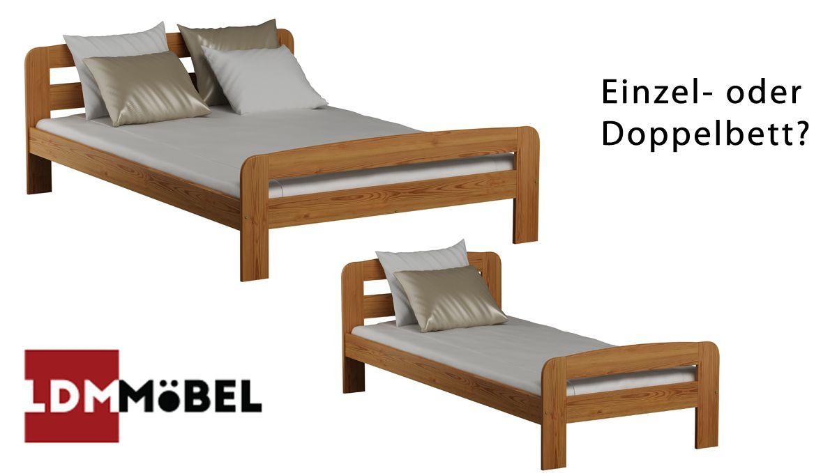 Einzel oder Doppelbett ? Unsere Betten sind in vielen