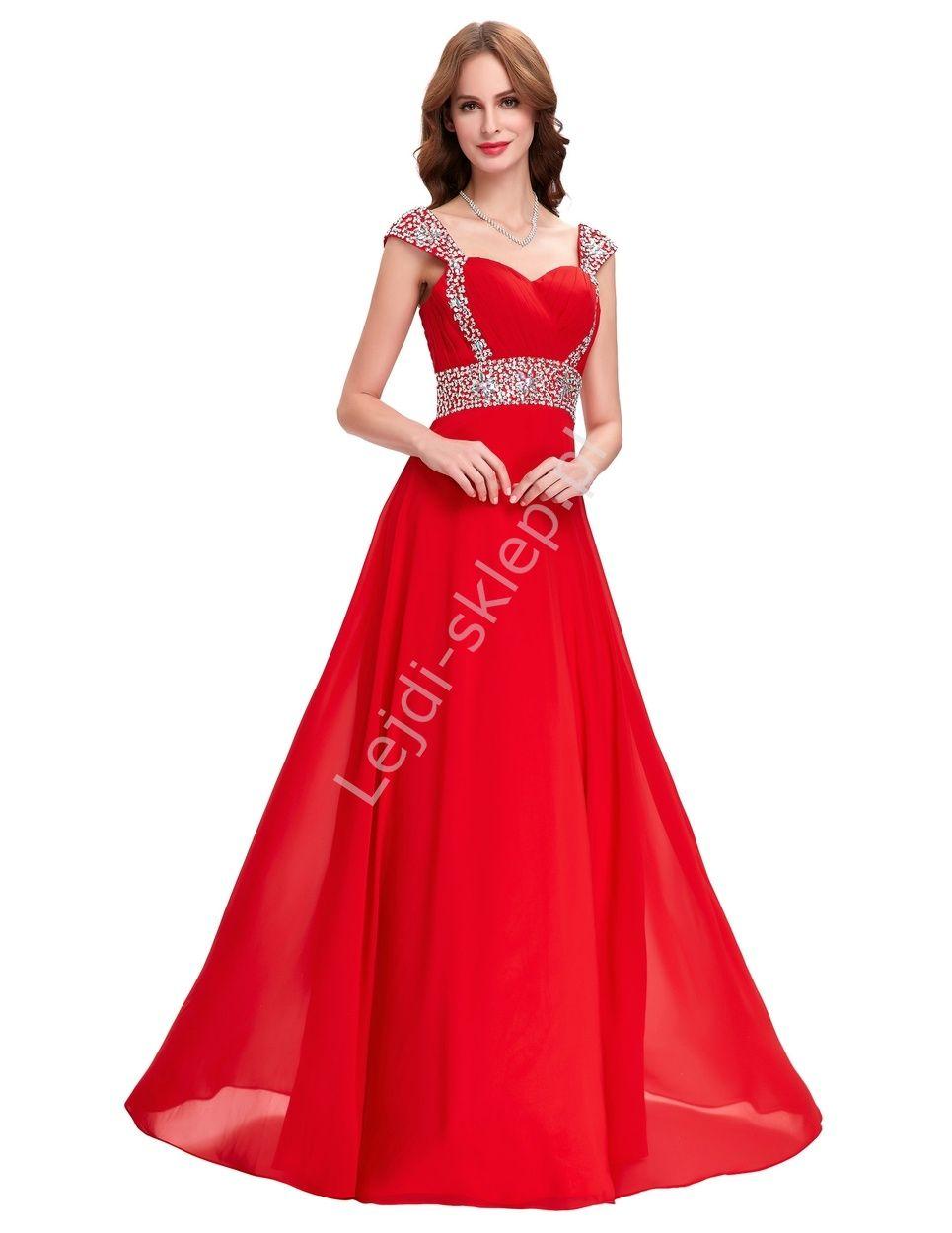 Czerwona Długa Sukienka Sukienki Wieczorowe Czerwone Suknie Wieczorowe Formal Dresses Red Formal Dress Dresses
