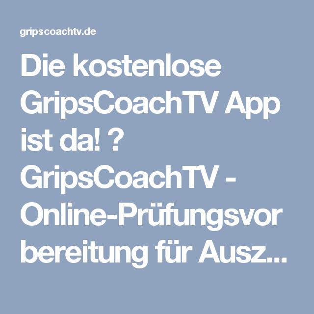 Die kostenlose GripsCoachTV App ist da! ⋆ GripsCoachTV - Online-Prüfungsvorbereitung für Auszubildende und Umschüler, wie Kaufmann / Kauffrau für Büromanagement