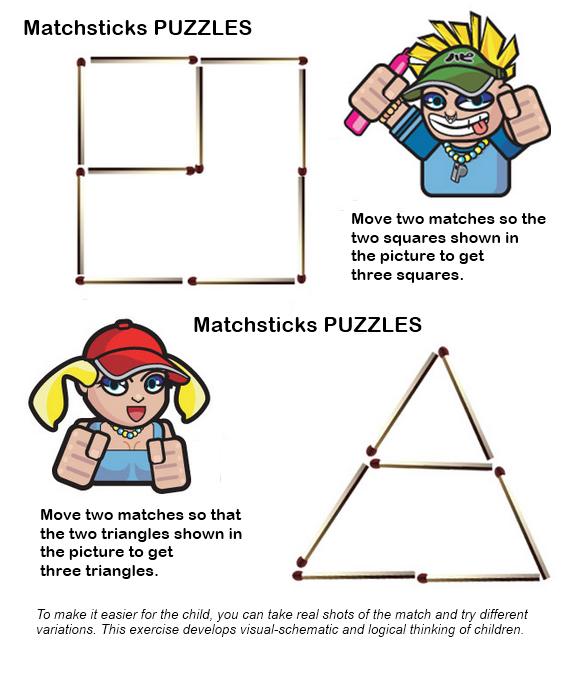 Matchsticks PUZZLES Maths puzzles, Thinking skills