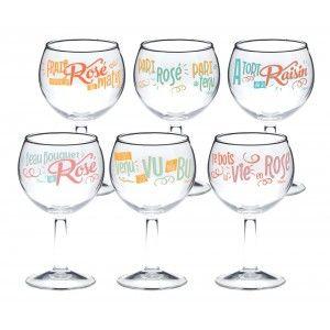 Coffret 6 Verres A Vin J Ai Tout Bu Natives Avec Images Verre De Vin Natives Deco Vin