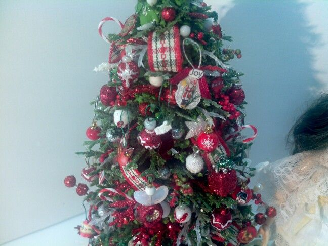 112 scale 8 inch high miniature dollhouse christmas tree by mable malley - 12 Inch Christmas Tree