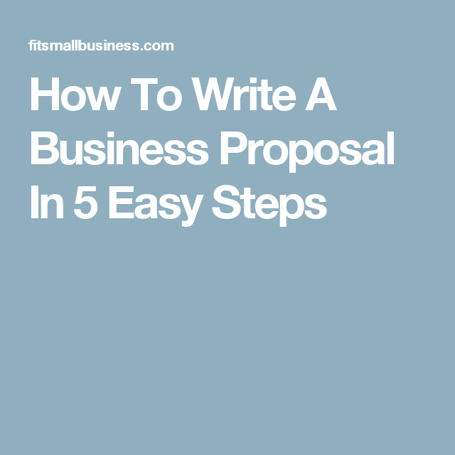 How To Write A Business Proposal In 5 Easy Steps Crafts