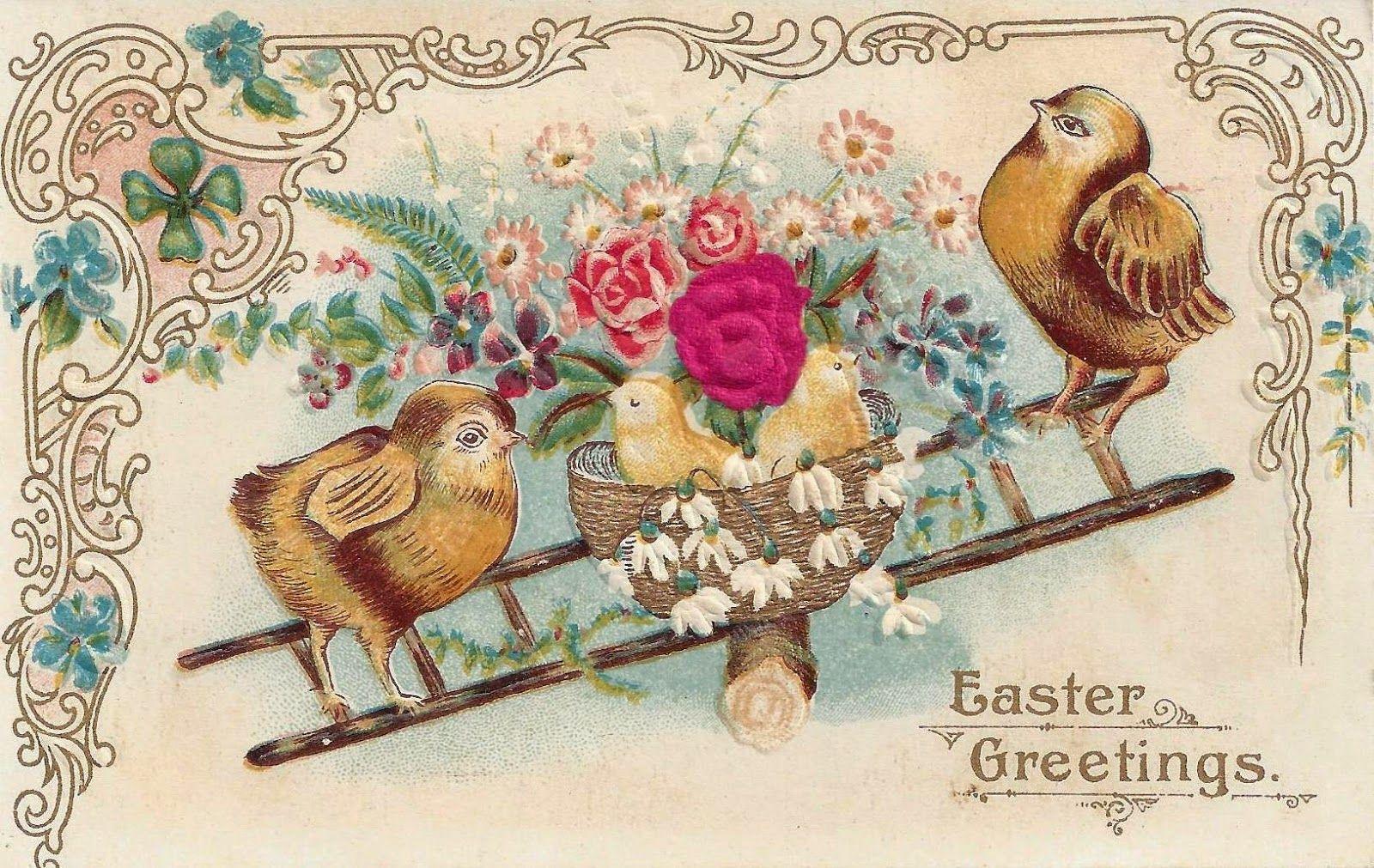 Старинные пасхальные открытки великобритании, начало