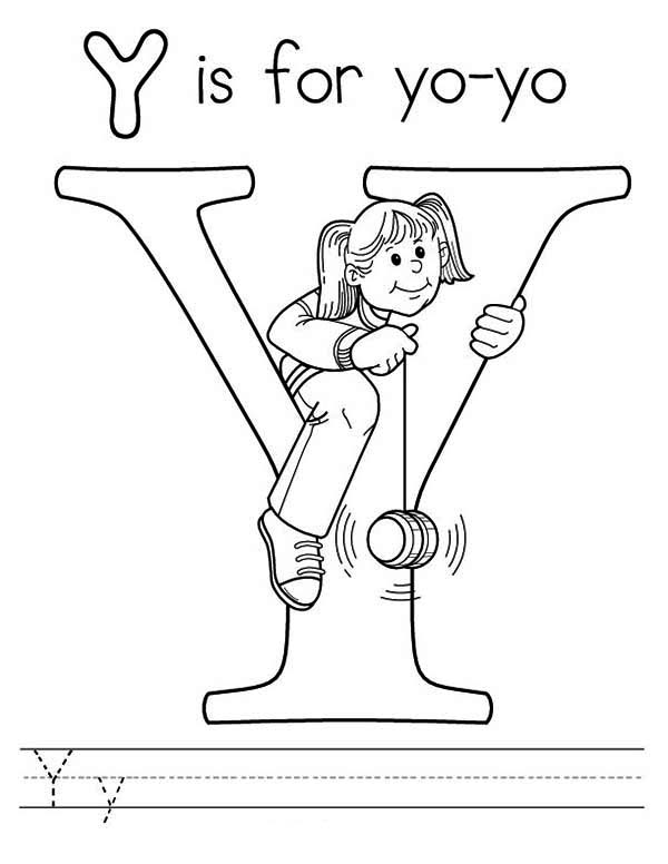 Letter Y Is For Yo Yo Coloring Page For Kids Bulk Color Letter A Coloring Pages Alphabet Coloring Pages Coloring Pages
