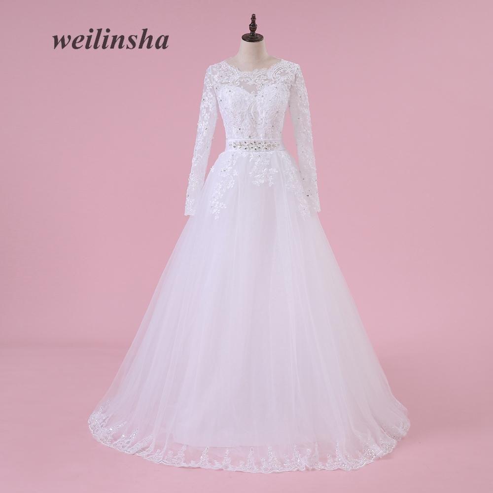 weilinsha Charming Princess Wedding Dresses Long Sleeves Arabic ...