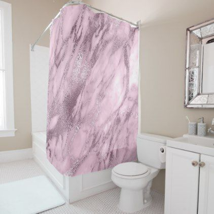 Lavande Lilac Mauve Marble Stone Abstract Shower Curtain Zazzle
