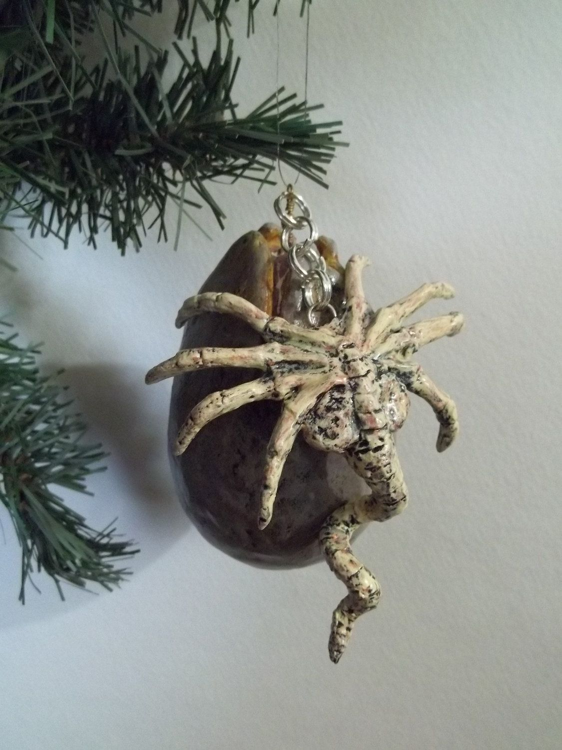 Facehugger And Alien Egg Holiday Ornament $4000, Via Etsy Oh I Have Got