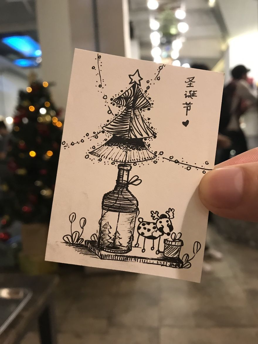 I Spent 3 Weeks Drawing Christmas Trees For The Upcoming Christmas Christmas Tree Pictures Christmas Tree Chrismas Tree