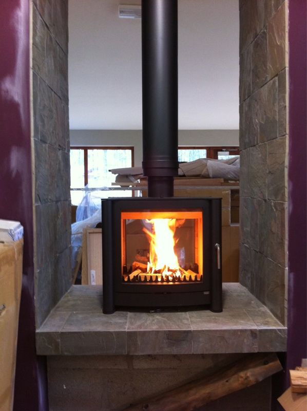 Firebelly Fb2 Double Sided Wood Stove Matt Black2
