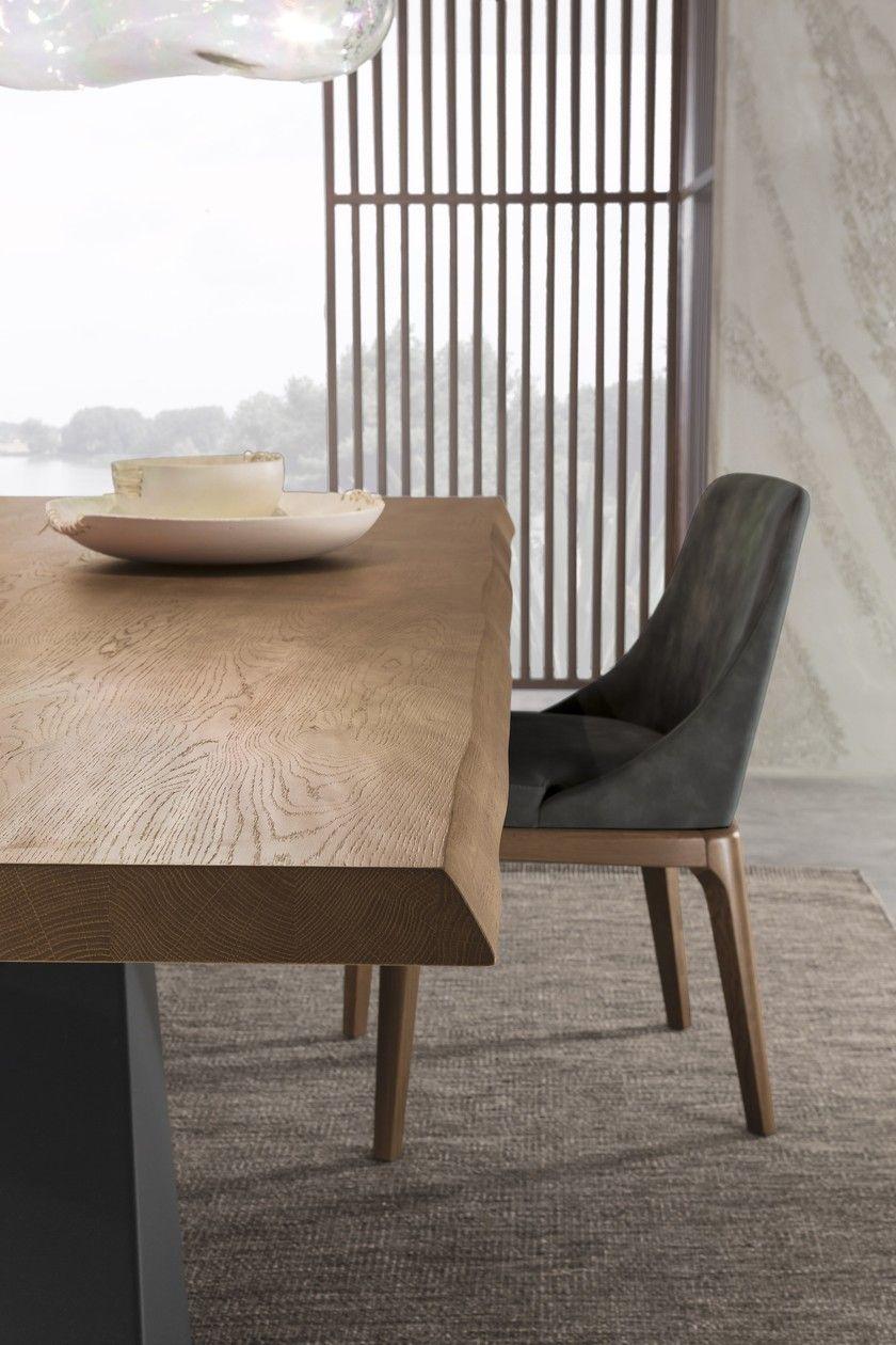 Tavolo da pranzo rettangolare in legno LIVING - GRAFITE ...
