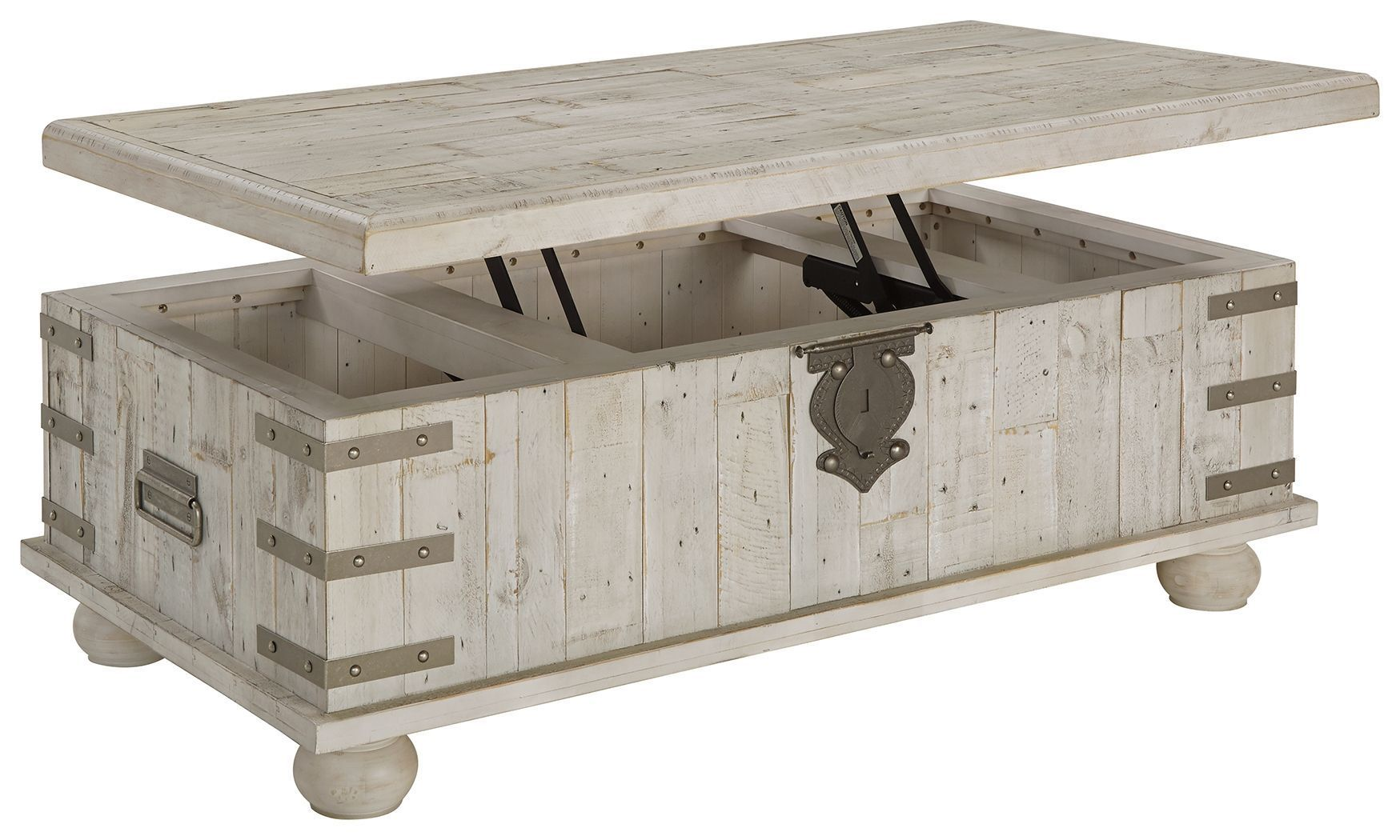 Carynhurst White Wash Gray Lift Top Cocktail Table In 2021 Coffee Table Trunk Coffee Table With Storage White Cocktail Tables [ 1050 x 1749 Pixel ]