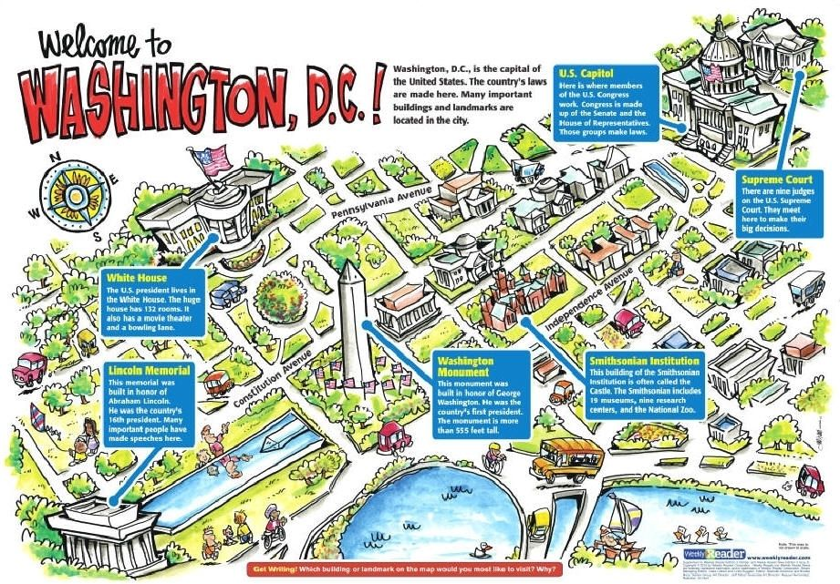 Washington Dc Map Of Attractions Washington Zoo Map Washington Dc Tourist Attractions Map Maps
