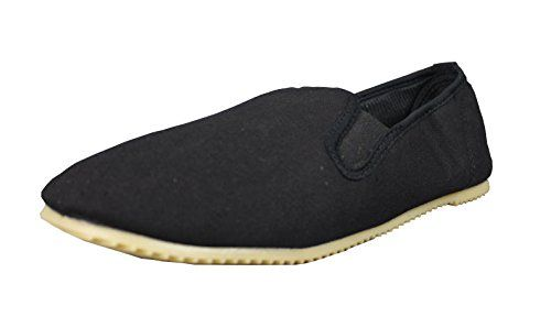 Zapatos Kung FU de Algodón con Suela Goma Tai Chi Negro Negro Size: 40 xv9L6tc
