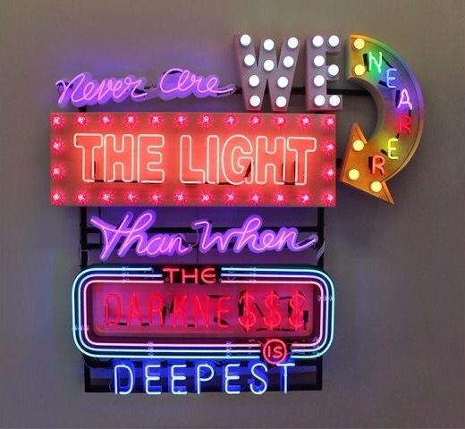 Never Are We Nearer the Light Than When the Darkness Is Deepest (2013)