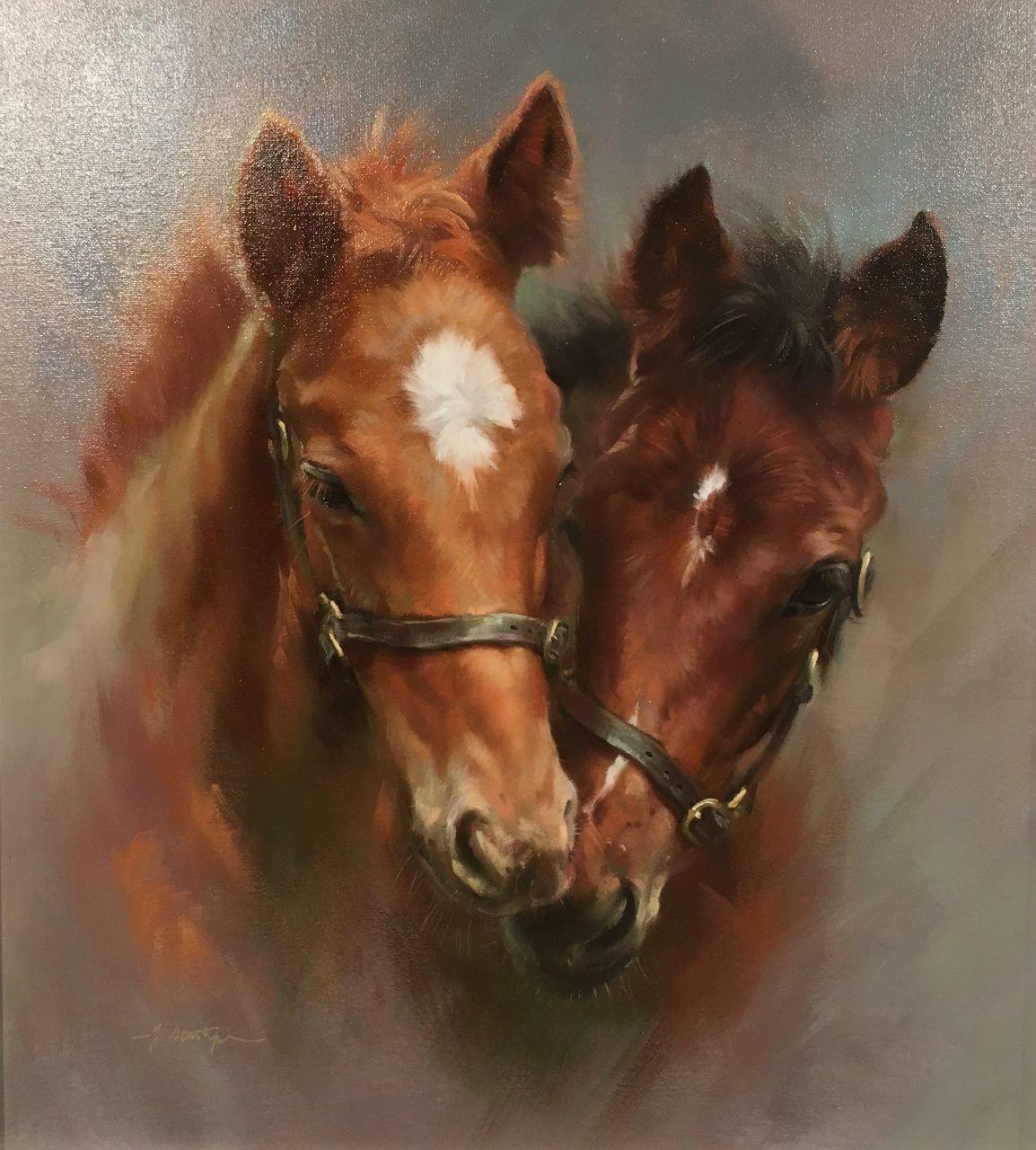 Joyful foals  Jacqueline Stanhope #skizzenkunst