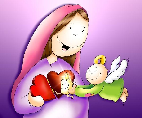De La Mano De Maria La Anunciacion De Maria Historias De La Biblia Para Ninos Anunciacion De La Virgen