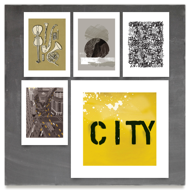 curated art print collection for the 'City Dude' on Minted.com