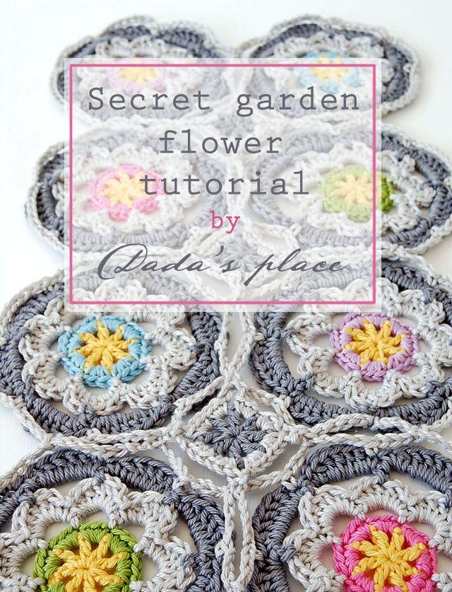 Secret Garden Shawl Free Crochet Tutorial (Dada\'s place) | Villa ...
