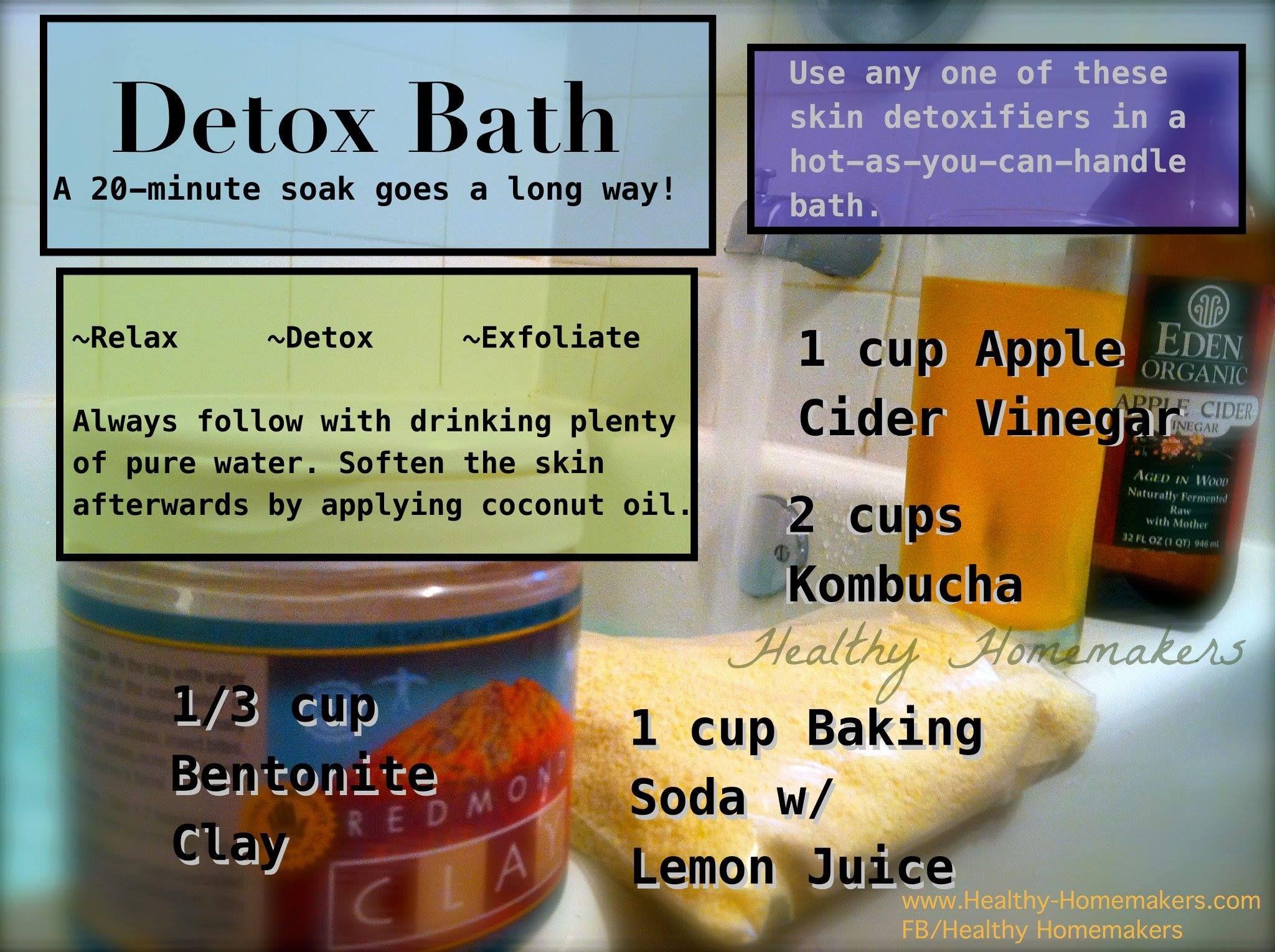 Easy natural detox bath - the best crunchy way to bathe