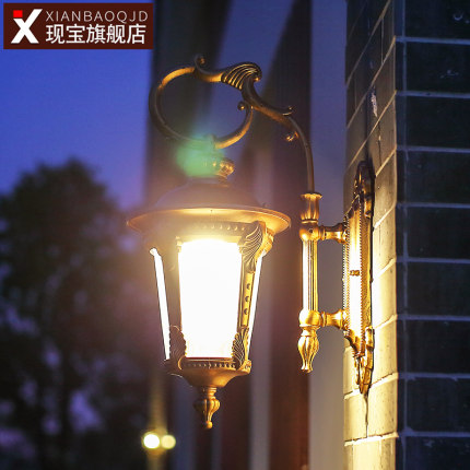 Outdoor Wall Lamp Waterproof European Retro Courtyard Lamp Led