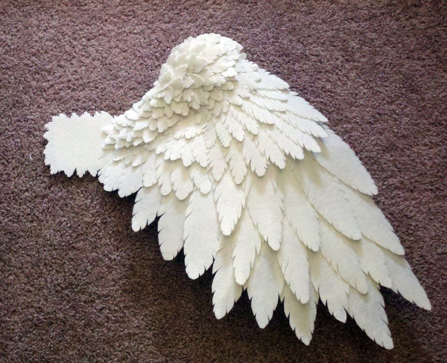 cosplay wings made from felt no tutorial but inspiration. Black Bedroom Furniture Sets. Home Design Ideas