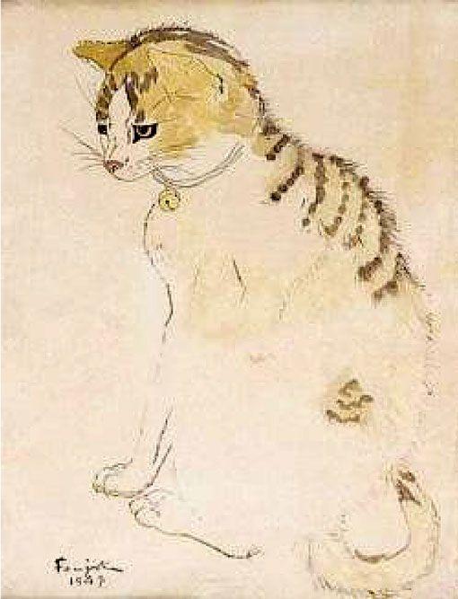 Cat Leonard Tsuguharu Foujita Was A Painter And Printmaker Born