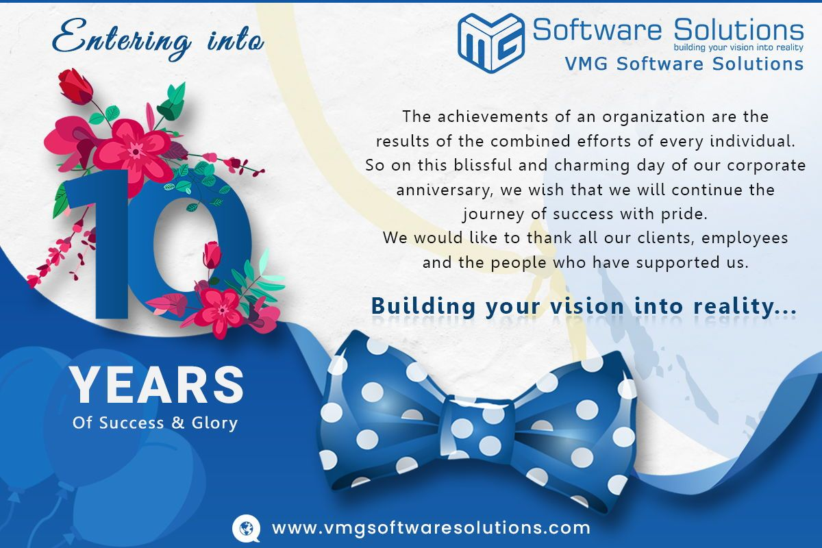 We Are Happy To Share That We Are Entering Into 10th Year Of Success A Successful Business Requires One Simple Thing Passion A Passion That Website Design