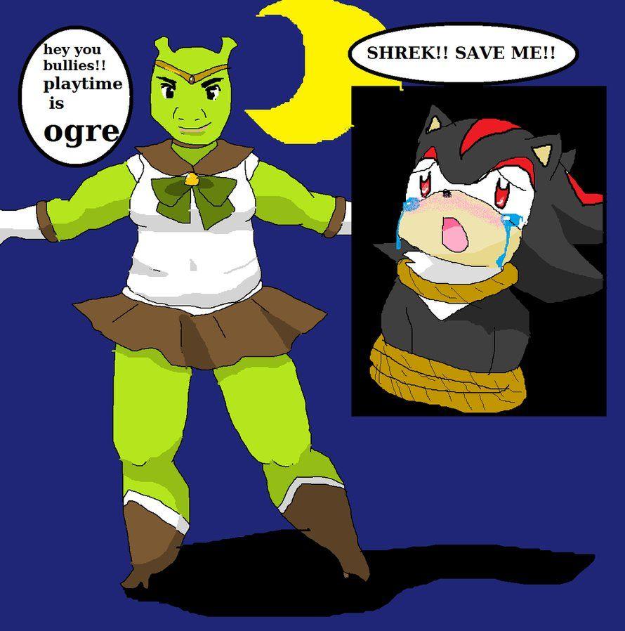 Sailor Shrek By Kawaiidolphinchan Shrek Stupid Memes Funny Memes