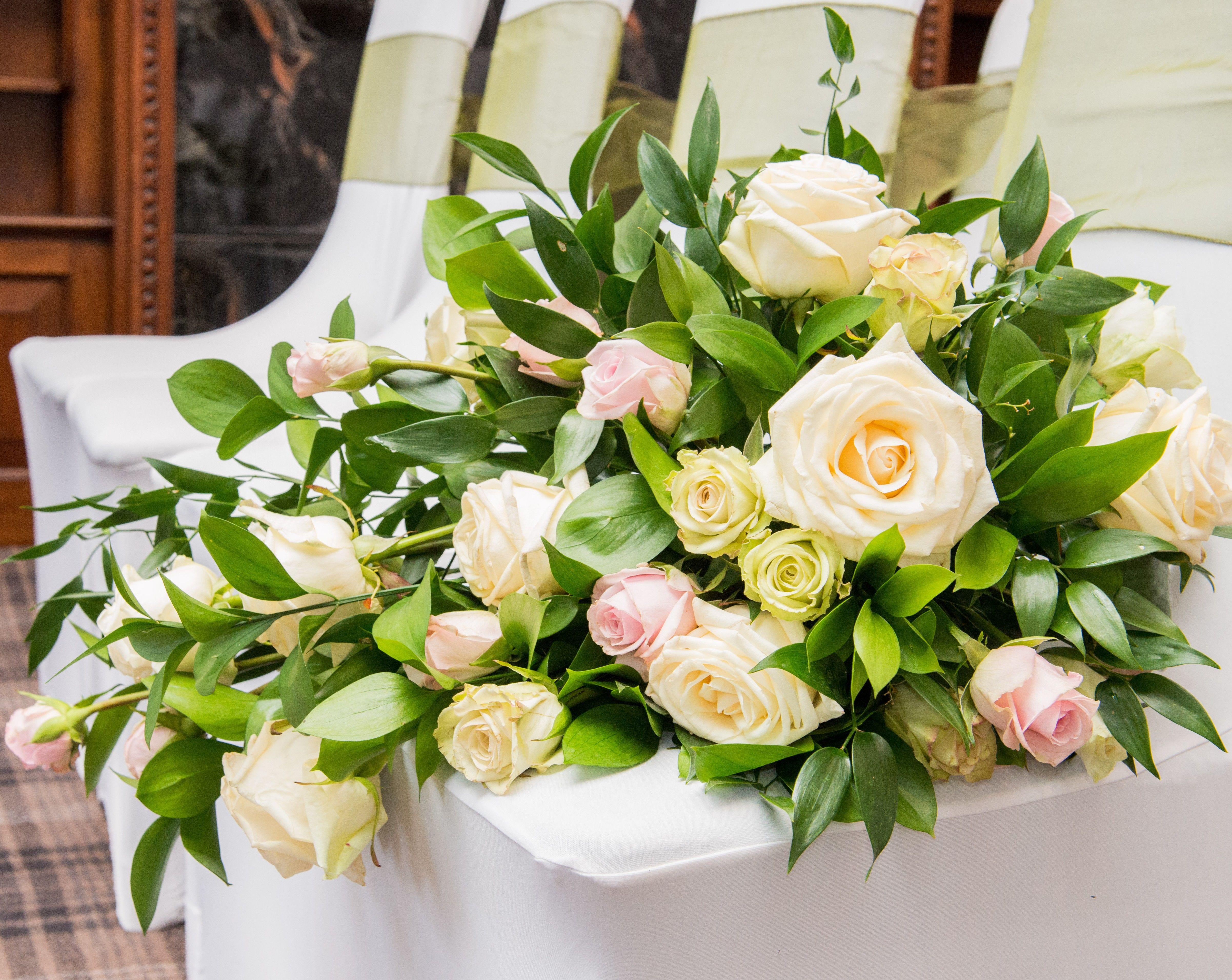 Rose cascade bouquet