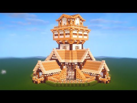 Easy Minecraft: Large Oak House Tutorial - How to Build a ...
