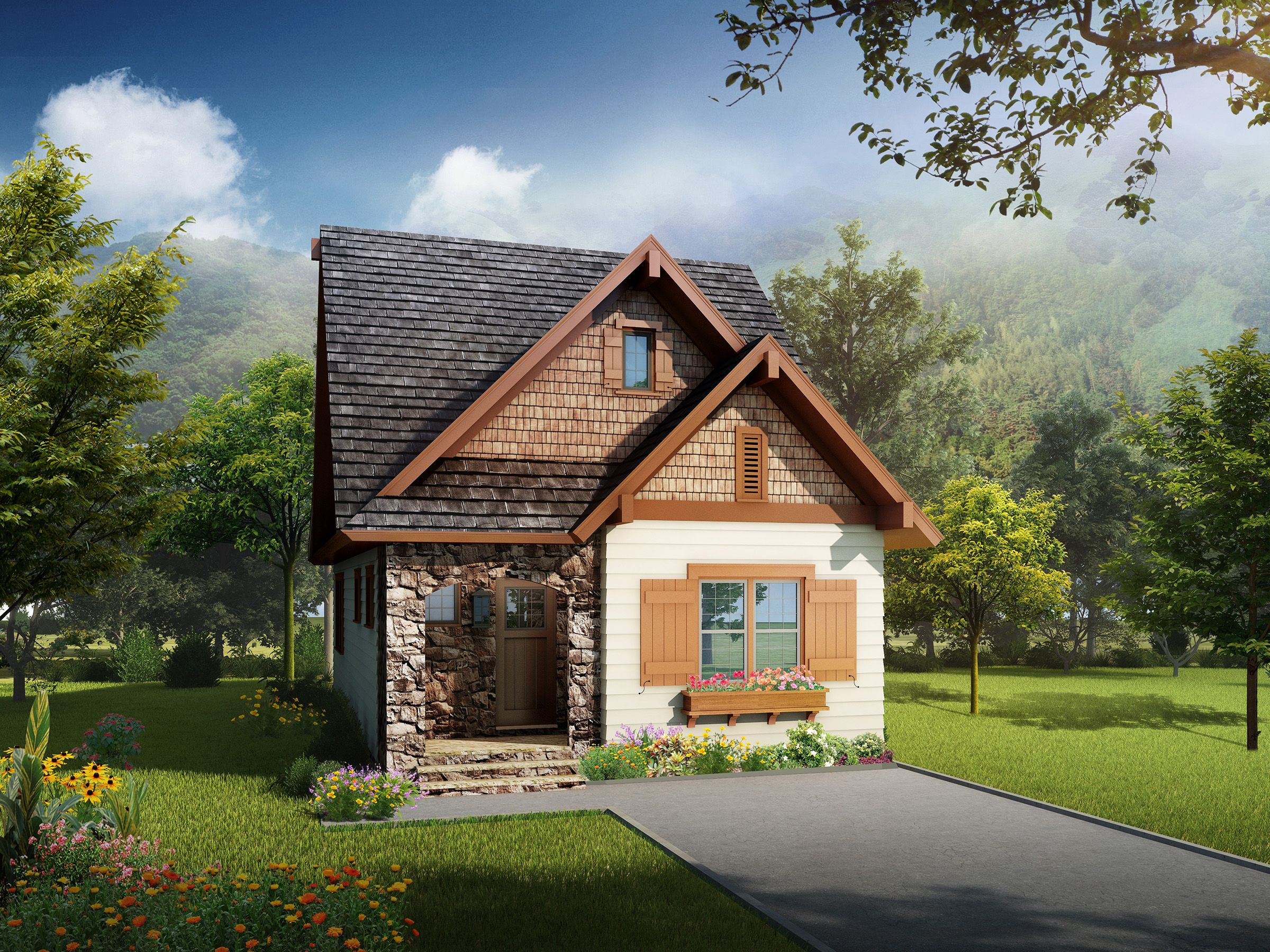 Plan 17807LV Rustic Craftsman Cottage Plan 17807LV
