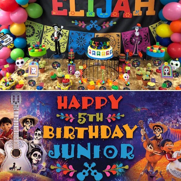 Disney S Coco Birthday Banner Coco Banner Coco Backdrop Disney Disneyland Personalized Feliz Cumpleanos Birthday Banner Birthday Happy 5th Birthday