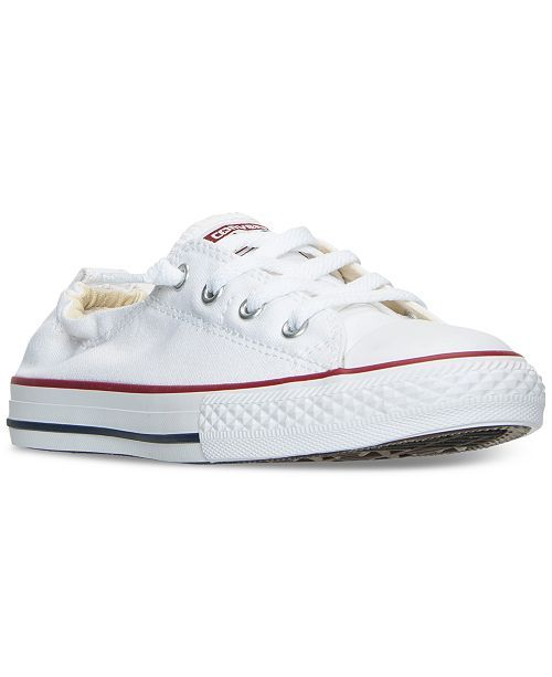 Converse Big Girls' Chuck Taylor All Star Shoreline Slip On Casual Sneakers from Finish Line #whiteallstars