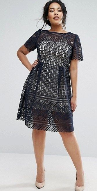 b64d01660a 36 Plus Size Wedding Guest Dresses {with Sleeves} - Plus Size Cocktail  Dresses - alexawebb.com