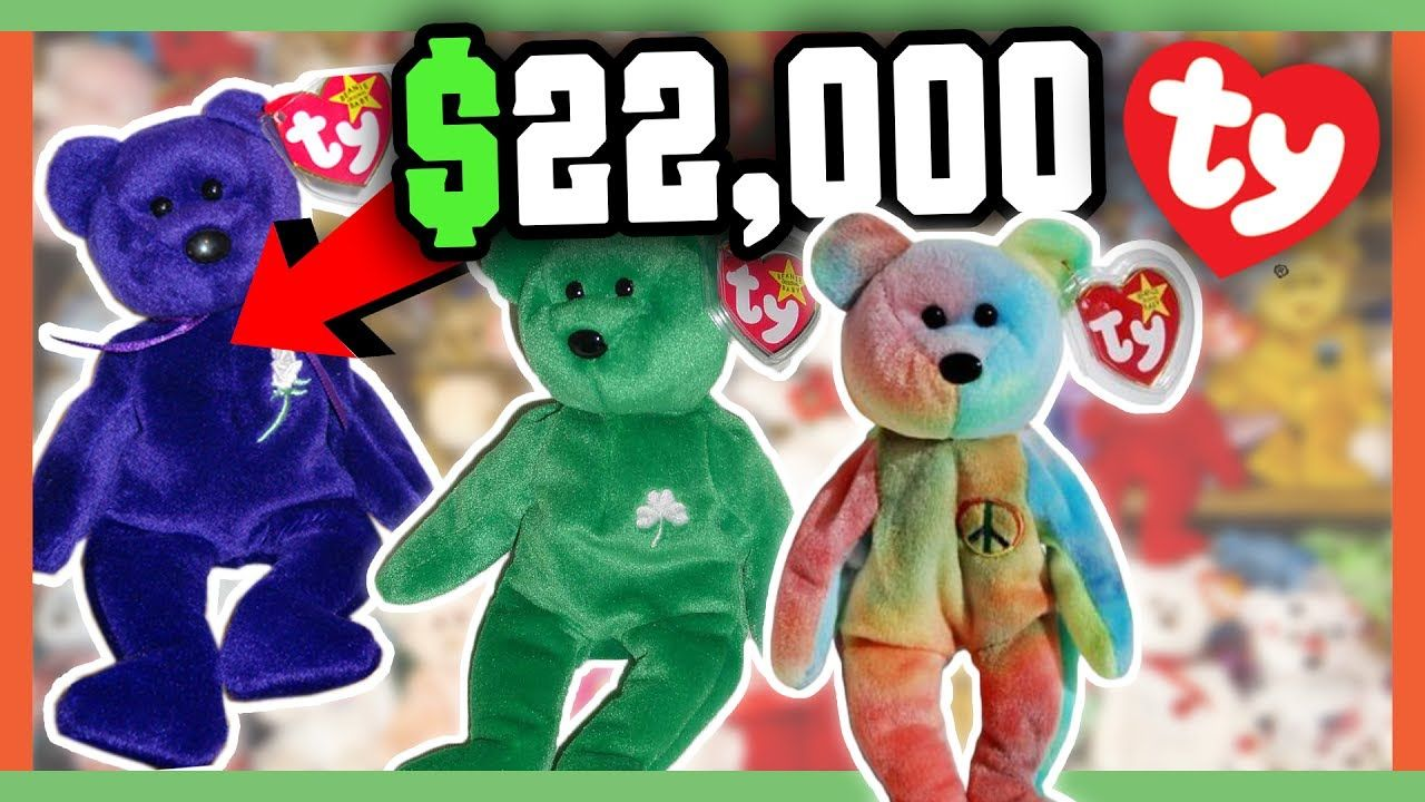 b3dcb4d8154 RARE BEANIE BABIES WORTH MONEY - 90 s CHILDHOOD TOYS WORTH A FORTUNE!! -  YouTube