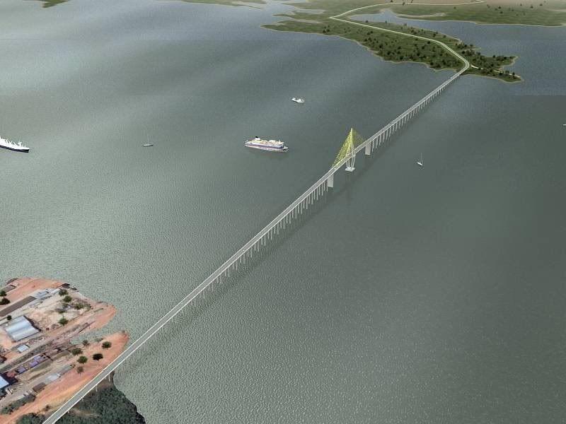 Ponte Manaus-Iranduba Brasil